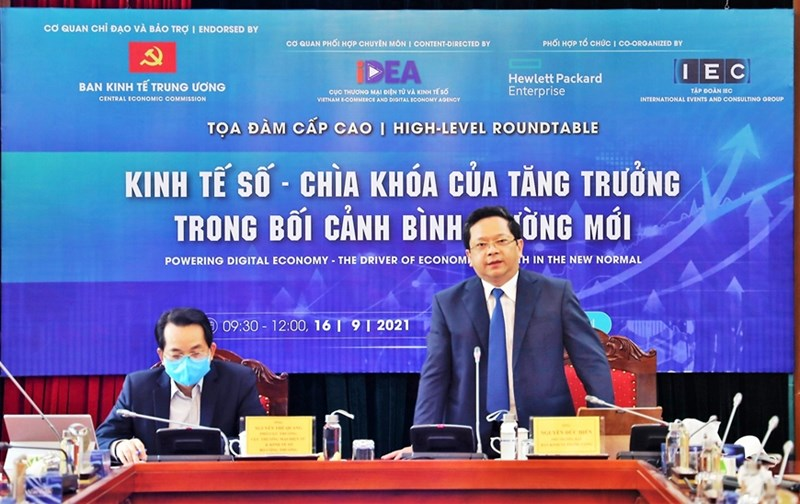 Đồng chí Nguyễn Đức Hiển, Phó trưởng Ban Kinh tế Trung ương phát biểu tại tọa đàm. Ảnh: THÀNH TRUNG.