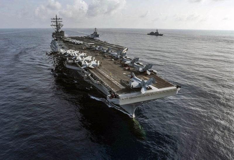Một phát ngôn viên Hạm đội 7 cho biết nhóm tác chiến tàu sân bay USS Ronald Reagan đang thực hiện nhiệm vụ định kỳ và không nhắm vào bất kỳ bên nào.