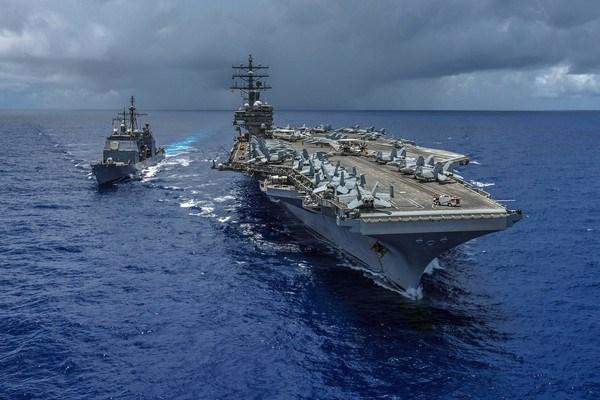 Mỗi nhóm tác chiến tàu sân bay tượng trưng cho sức mạnh toàn cầu của Mỹ.