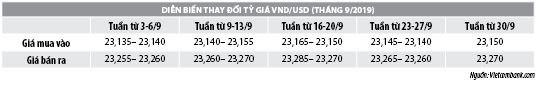 Số liệu thị trường tiền tệ tháng 9/2019 - Ảnh 2