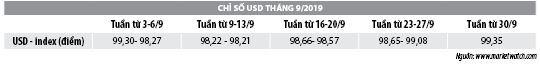 Số liệu thị trường tiền tệ tháng 9/2019 - Ảnh 3