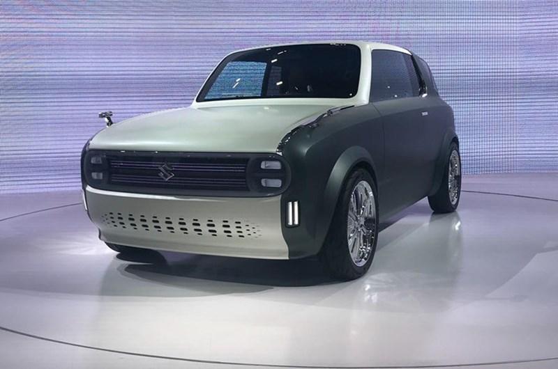 Suzuki Waku với sự kết hợp giữa những nétcổ điện và hiện đại. (Ảnh: Autocar)