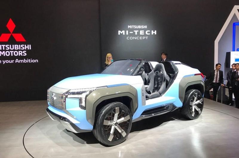 Chiếc concept Mi-tech của Mitsubishi với động cơ hybrid. (Ảnh: Autocar)