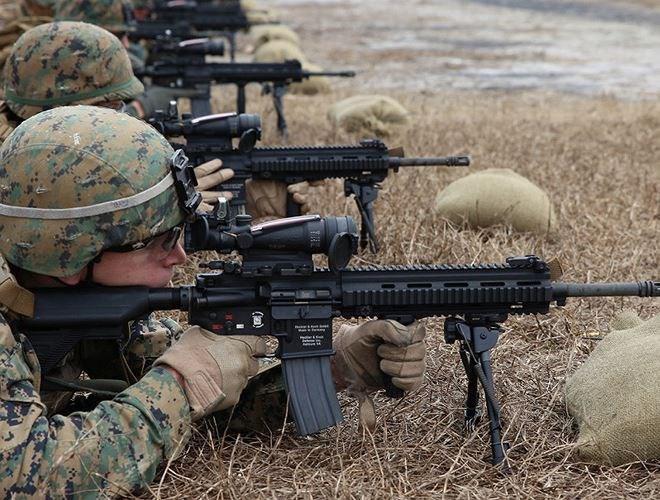 HK416 sử dụng cơ cấu trích khí kiểu piston ngắn, tương tự như trên súng trường G36 của Đức
