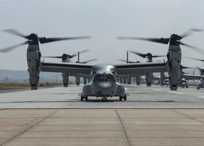Những chiếc V-22 Osprey có thể chở theo 24 binh sĩ với quân trang đầy đủ, và khi cần có thể tăng lên tối đa 32 binh sĩ.