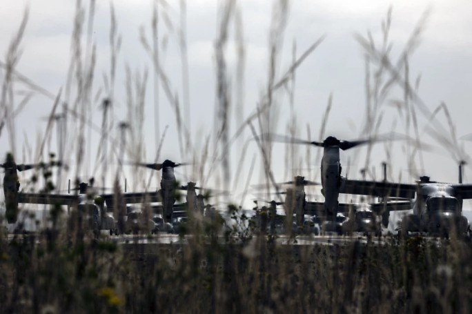 V-22 có trọng lượng cất cánh tối đa lên tới hơn 27 tấn và tải trọng hữu ích lên tới 9 tấn.