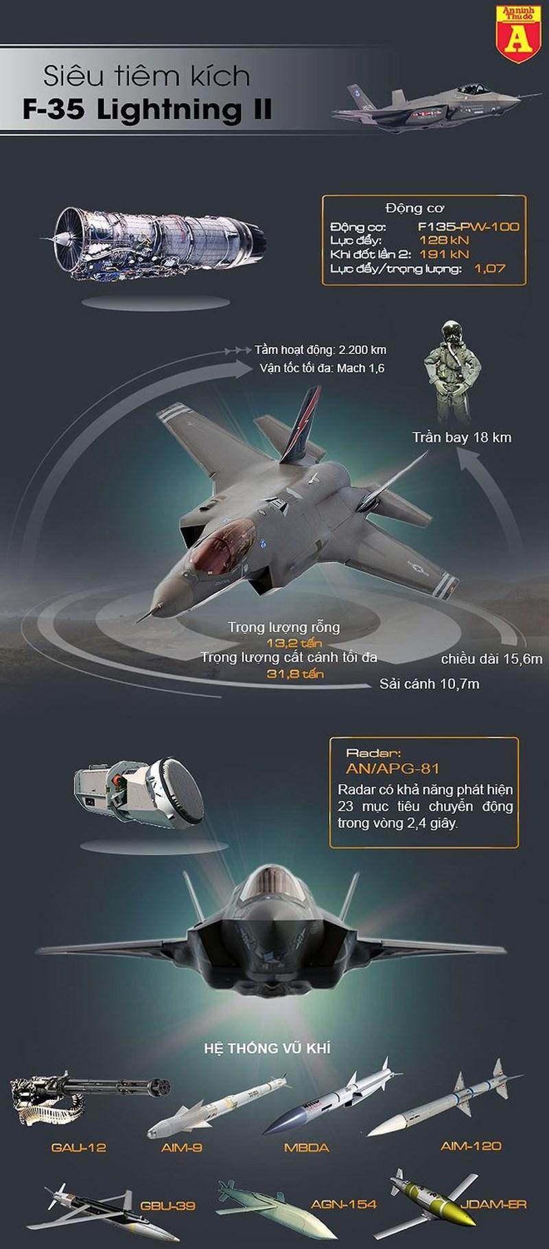 [Infographics] Bất ngờ với lý do chiến đấu cơ tàng hình F-35A bị hỏng tàng hình - Ảnh 1