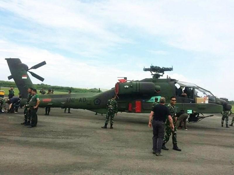 Dưới bụng trực thăng được trang bị một pháo tự động M230 30mm với cơ số 1.200 viên đạn.