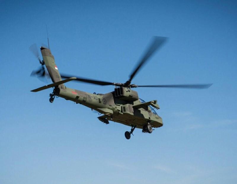 AH-64 có 2 cánh phụ hai bên hông với 2 điểm treo mỗi cánh có thể mang theo 16 tên lửa chống tăng AGM-114 Hellfire, giá phóng rocket không điều khiển Hydra 70mm, tên lửa không đối không tầm thấp AIM-92 Stinger.