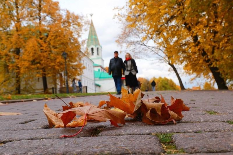 Mùa thu vàng ở Kolomensk. (Ảnh: Trần Hiếu/TTXVN)