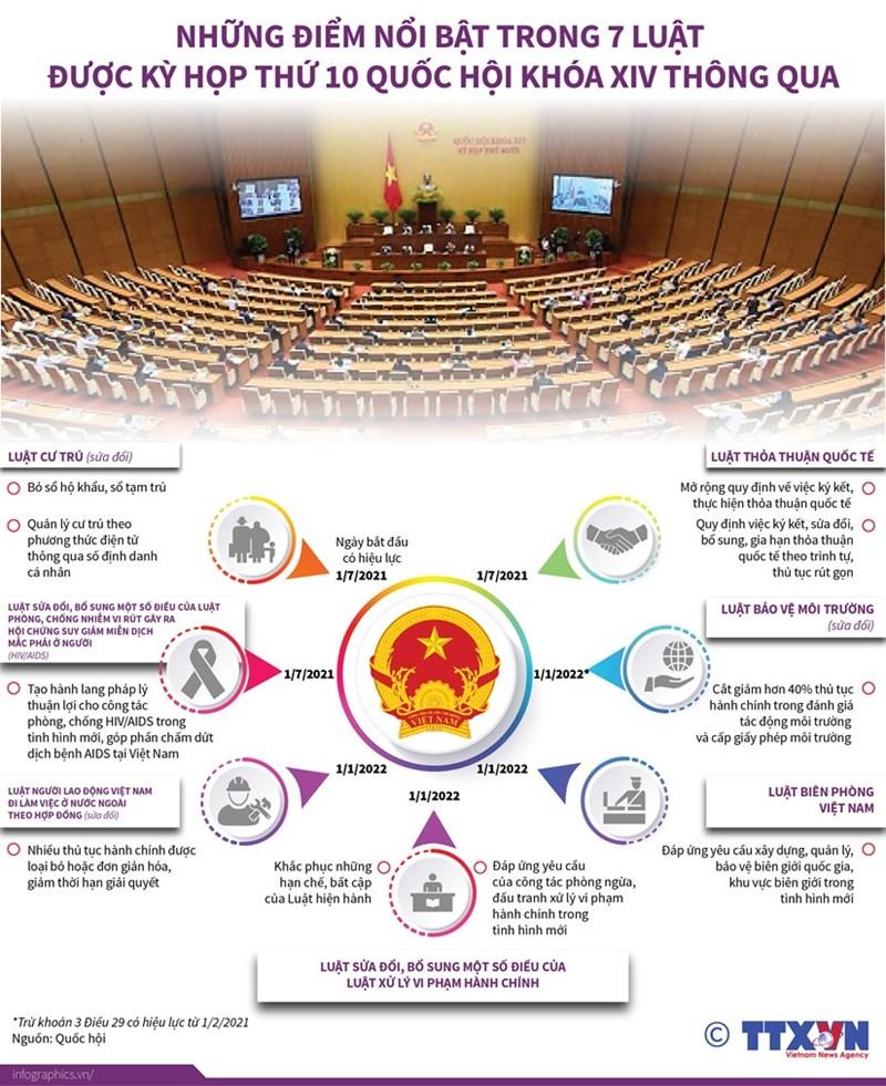 [Infographics] Những điểm nổi bật trong 7 Luật vừa được Quốc hội khóa XIV thông qua - Ảnh 1