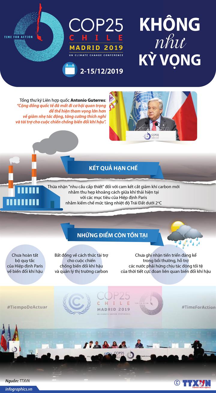 [Infographics] COP25 không như kỳ vọng - Ảnh 1