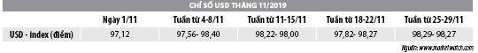 Số liệu thị trường tiền tệ tháng 11 năm 2019 - Ảnh 2