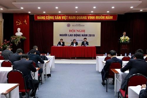 Ngay sau Hội nghị tổng kết, DATC tổ chức Hội nghị Người lao động năm 2019