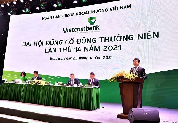 Ông Nghiêm Xuân Thành – Chủ tịch HĐQT Vietcombank phát biểu tại Đại hội đồng cổ đông Vietcombank lần thứ 14