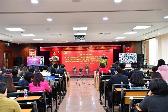 Hội nghị trực tuyếnhọc tập,quán triệt, triển khai thực hiện Nghị quyết Trung ương 4 Khóa XII và Chỉ thị 05-CT/TW của Bộ Chính trị