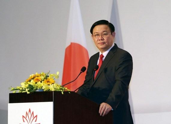 Phó Thủ tướng Vương Đình Huệ phát biểu tại lễ khai mạc các hội thảo, diễn đàn kinh tế, du lịch, lao động Nhật Bản-Việt Nam.