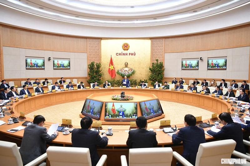Quang cảnh phiên họp Chính phủ.