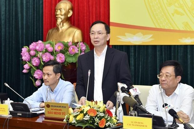 Phó Thống đốc Đào Minh Tú phát biểu tại buổi gặp gỡ. (Ảnh: CTV/Vietnam+)