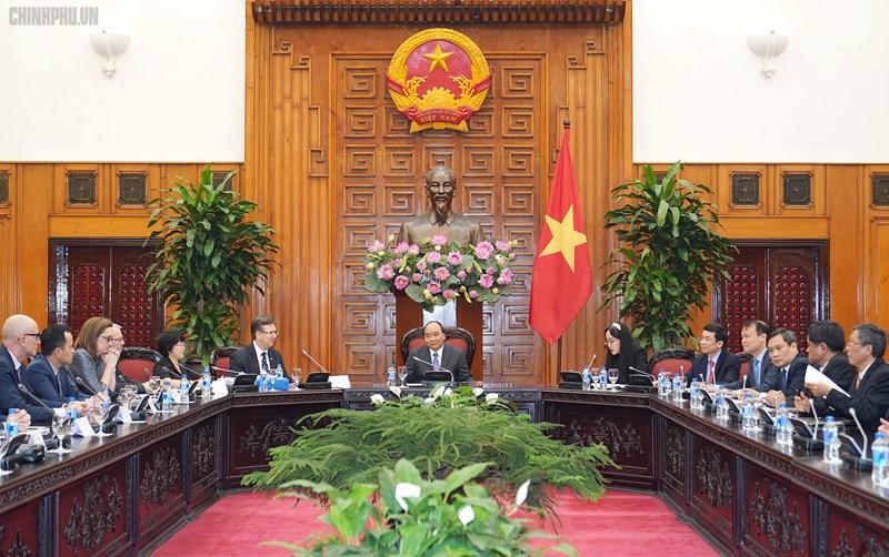 Thủ tướng Nguyễn Xuân Phúc tiếp đoàn doanh nghiệp của Hội đồng Kinh doanh Hoa Kỳ - ASEAN.