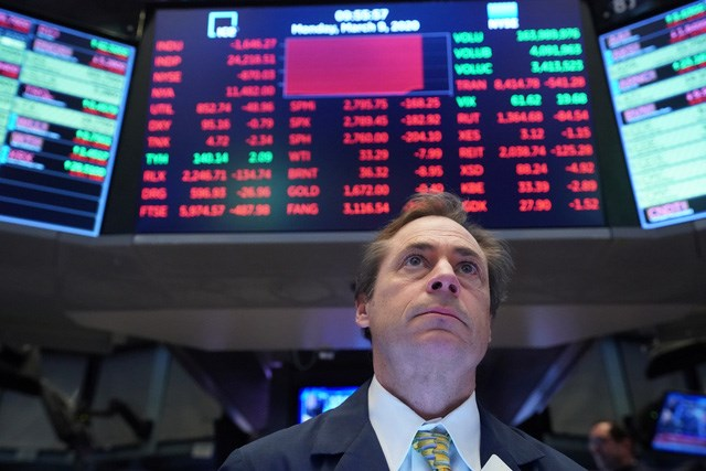 Trong cả tuần, chỉ số Dow Jones mất 17,3%, chỉ số S&P 500 mất 14,98%, trong khi chỉ số Nasdaq Composite mất 12,64%.