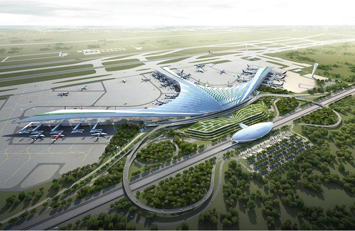 Mô hình dự ánsân bay quốc tế Long Thành.