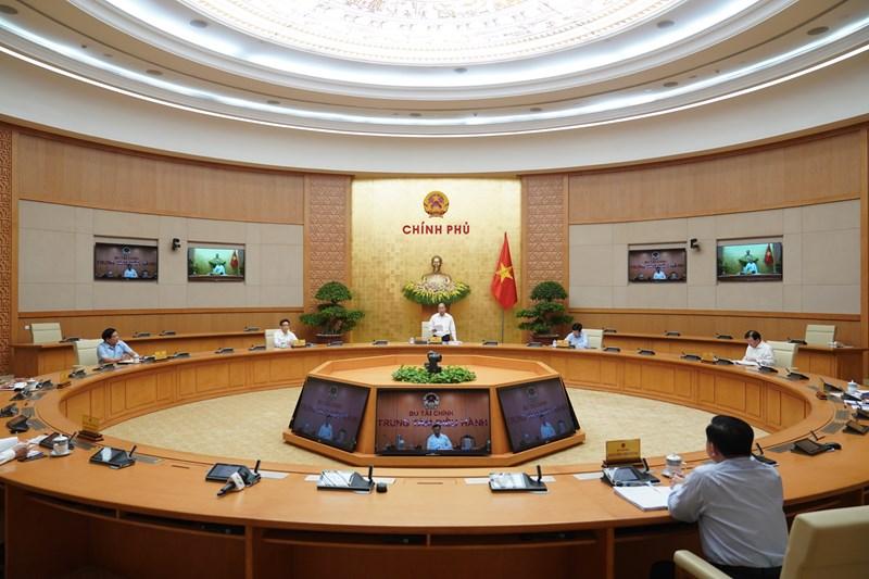 Quang cảnh phiên họp Chính phủ tháng 4/2020.