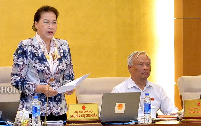 Chủ tịch Quốc hội Nguyễn Thị Kim Ngân phát biểu khai mạc phiên họp 34 Uỷ ban Thường vụ Quốc hội.