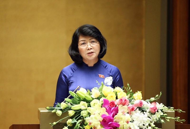 Phó Chủ tịch nước Đặng Thị Ngọc Thịnh đề nghị Quốc hội phê chuẩn Hiệp định EVIPA.