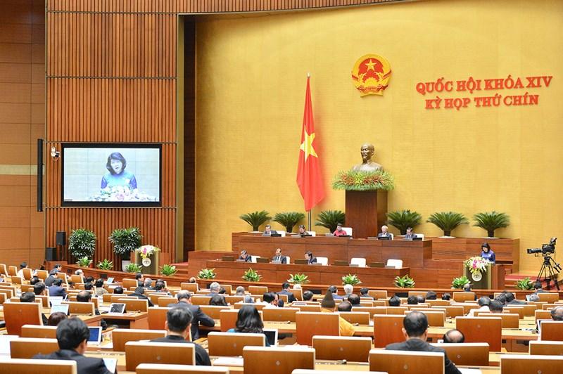 Quang cảnh phiên họp Kỳ họp thứ 9, Quốc hội .