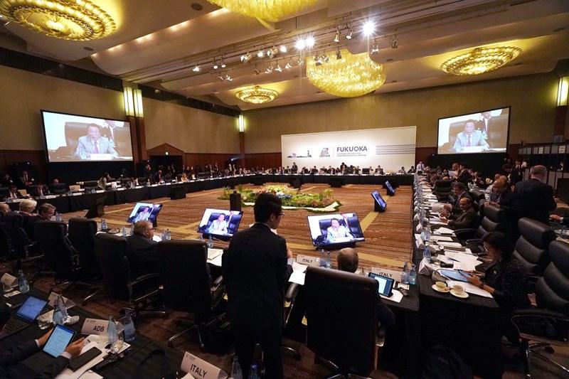 Toàn cảnh Hội nghị Bộ trưởng Tài chính và Thống đốc Ngân hàng Trung ương Nhóm Các nền kinh tế phát triển và mới nổi hàng đầu thế giới (G20) ở thành phố Fukuoka, Nhật Bản ngày 8/6/2019. (Nguồn: AFP/TTXVN)