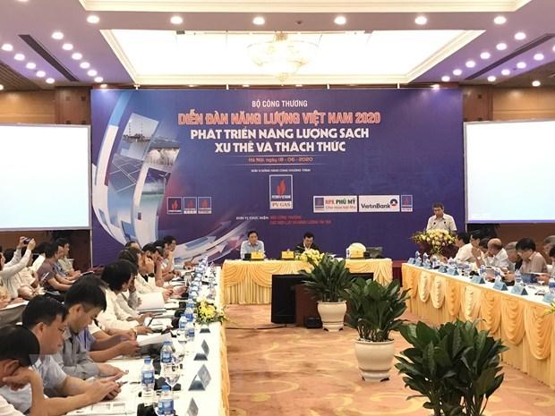 """Diễn đàn Năng lượng Việt Nam 2020 với chủ đề """"Phát triển năng lượng sạch: Xu thế và thách thức""""tổ chức ngày 18/6, tại Hà Nội."""