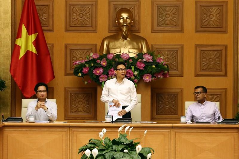 Phó Thủ tướng Vũ Đức Đam mong muốn cộng đồng DNlan toả mạnh mẽ các giá trị phát triển bền vững ra toàn xã hội.