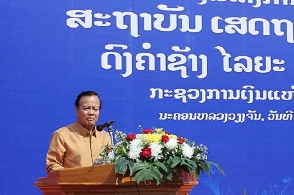 Phó Thủ tướng kiêm Bộ trưởng Bộ Tài chính Lào Somdee Duangdee cảm ơn sự giúp đỡ của Chính phủ, nhân dân và Bộ Tài chính Việt Nam dành cho đất nước Lào. Nguồn: TBTCVN.