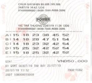 Vé trúng thưởng Jackpot của gia đình chị B.T.H.N