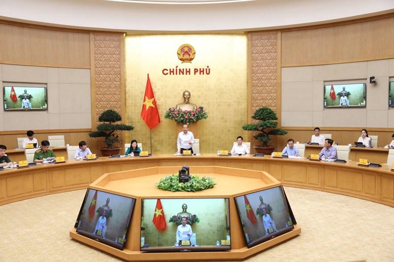 Phó Thủ tướng Trương Hòa Bình phát biểu kết luận hội nghị.