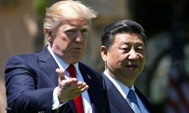 Tổng thống Mỹ Donald Trump và Chủ tịch Trung Quốc Tập Cận Bình. Ảnh: AP.