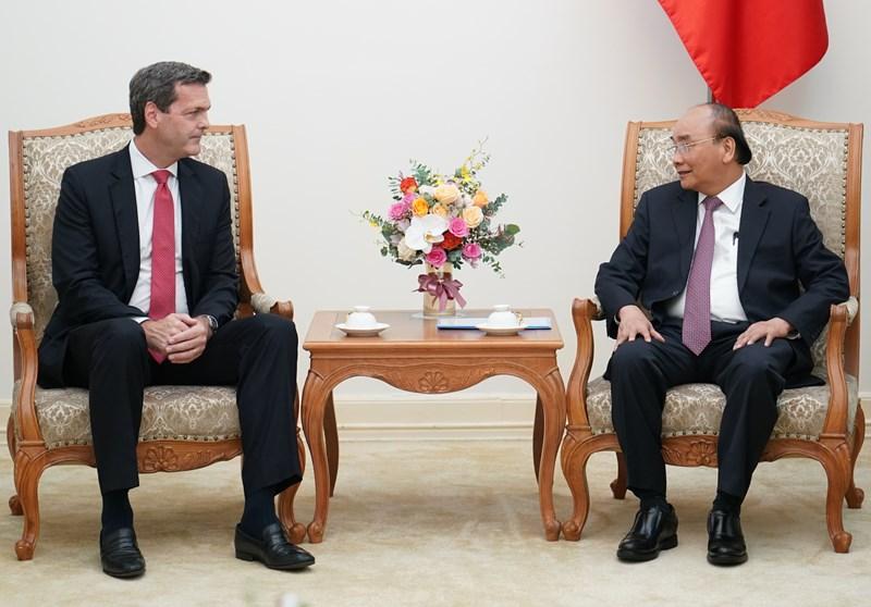 Thủ tướng Nguyễn Xuân Phúc tiếp ông Andrew Jeffries, Giám đốc Quốc gia Ngân hàng phát triển châu Á (ADB) tại Việt Nam.