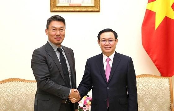 Phó Thủ tướng Vương Đình Huệ tiếp ông Park Byounggun, Giám đốc Công ty Công nghệ Alliex (Hàn Quốc).