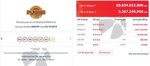 Vé trúng Jackpot 1 Power 6/55 kỳ 339 được phát hành tại Nghệ An - Ảnh 1