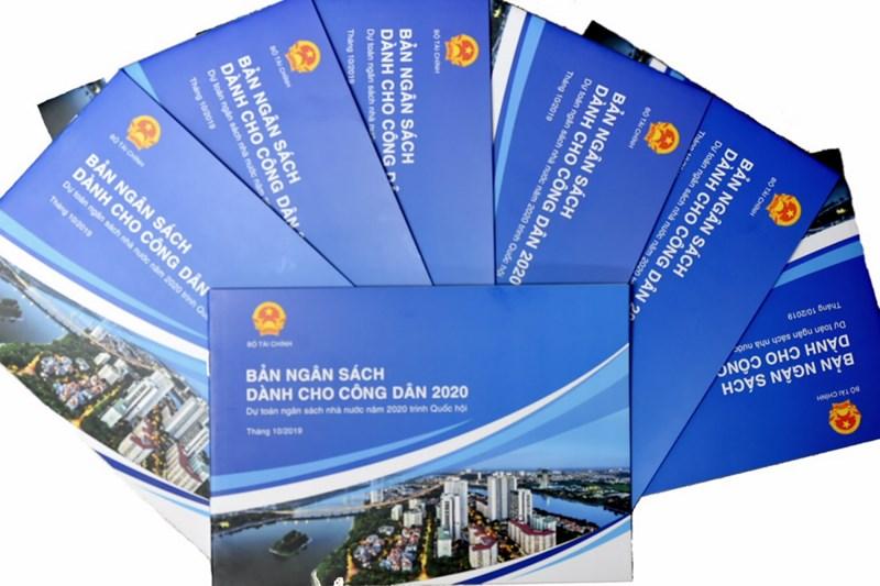 Bản ngân sách dành cho công dân 2020 do Bộ Tài chính phát hành.