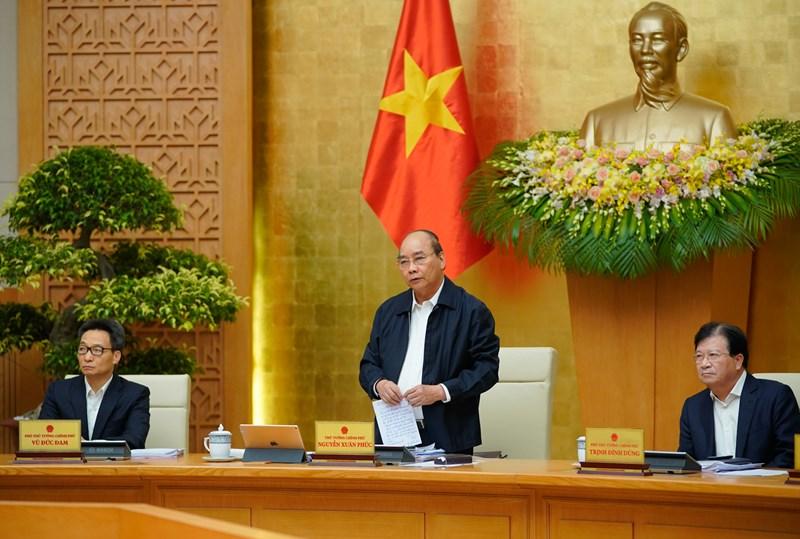Thủ tướng Nguyễn Xuân Phúc phát biểu chỉ đạo.