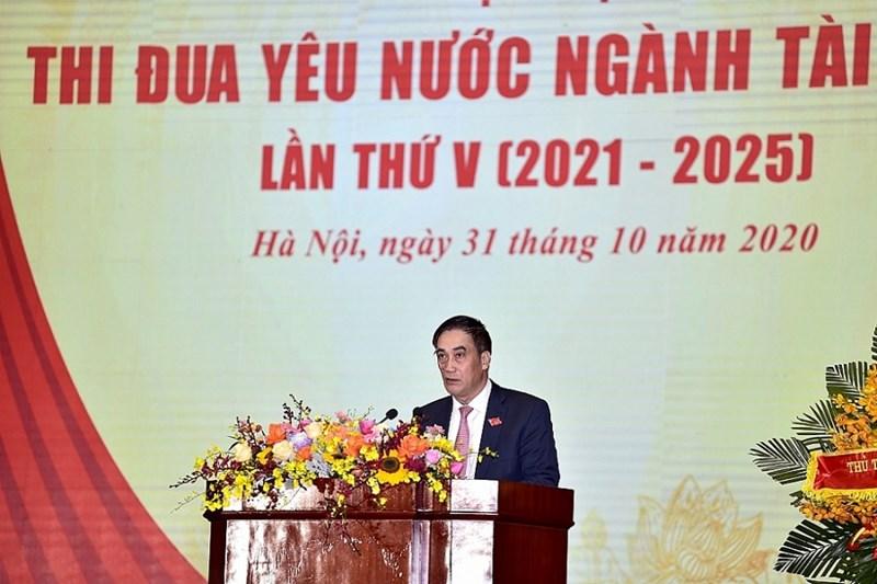 Thay mặt Ban Cán sự Đảng Bộ Tài chính, Thứ trưởng Bộ Tài chính Trần Xuân Hà đã phát động phong trào thi đua phấn đấu thực hiện thắng lợi nhiệm vụ tài chính - ngân sách 2021-2025.