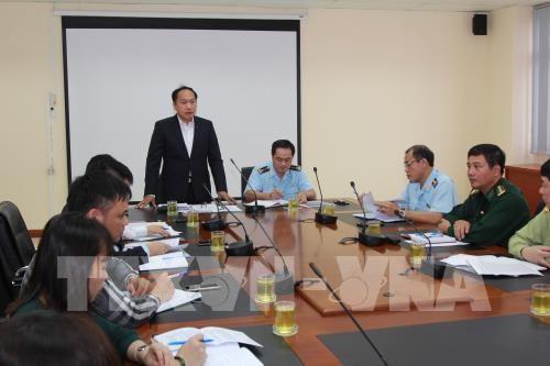 Chánh Văn phòng thường trực Ban chỉ đạo 389 Quốc gia Đàm Thanh Thế phát biểu tại buổi làm việc.
