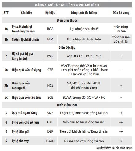 Tác động của vốn trí tuệ đến hiệu quả tài chính của ngân hàng thương mại Việt Nam  - Ảnh 1