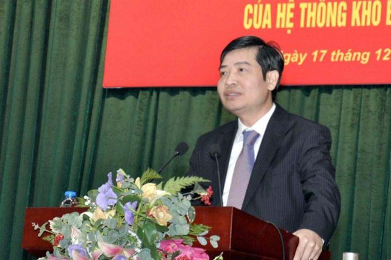 Tổng giám đốc KBNN Tạ Anh Tuấn tiếp thu ý kiến chỉ đạo.