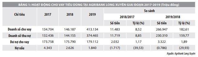Nâng cao hiệu quả hoạt động cho vay tiêu dùng tại ngân hàng thương mại: Khảo sát tại Agribank Long Xuyên  - Ảnh 2