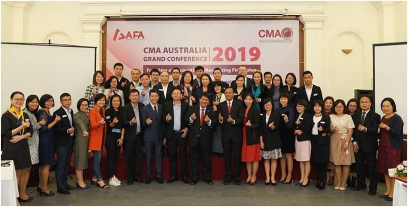 """Các đại biểu tham dự hội thảo do Viện Kế toán Quản trị công chứng Úc (CMA Australia) tổ chức với chủ đề """"Tối đa hoá giá trị doanh nghiệp"""" sáng ngày 14/12/2019."""