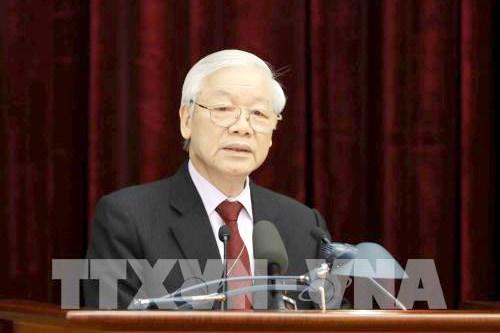 Tổng Bí thư, Chủ tịch nước Nguyễn Phú Trọng chủ trì Hội nghị.