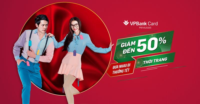 Sử dụng thẻ tín dụng VPBank được giảm đến 50% cho mặt hàng thời trang
